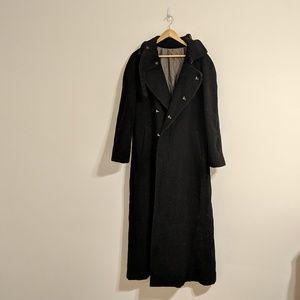 Black Wool Maxi Coat
